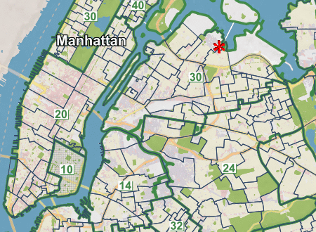 A map of the NYC public school zones on the nyc real estate resources page